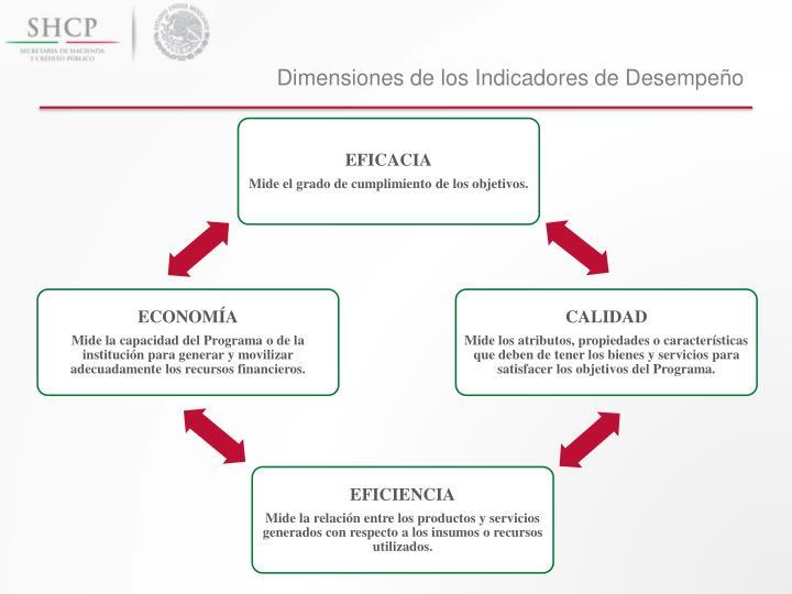 Dimensiones de los Indicadores de Desempeño