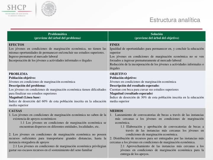 Estructura analítica