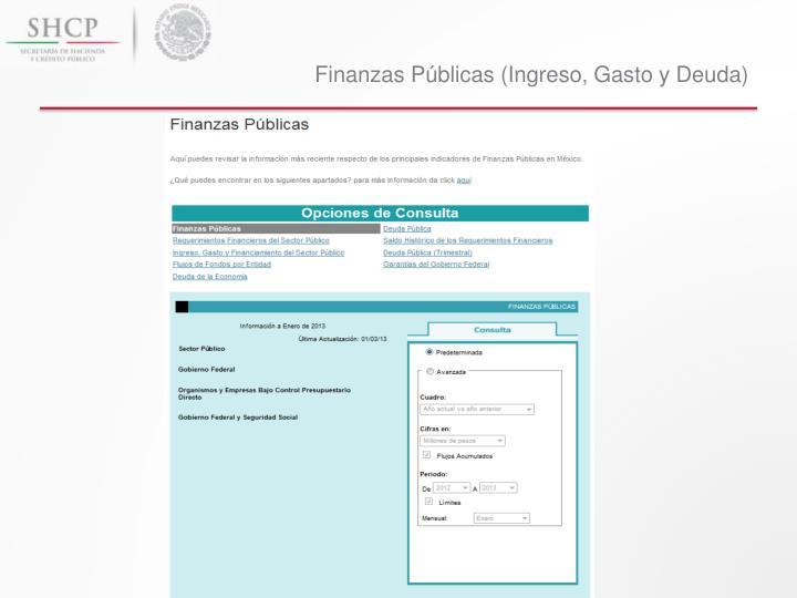 Finanzas Públicas (Ingreso, Gasto y Deuda)