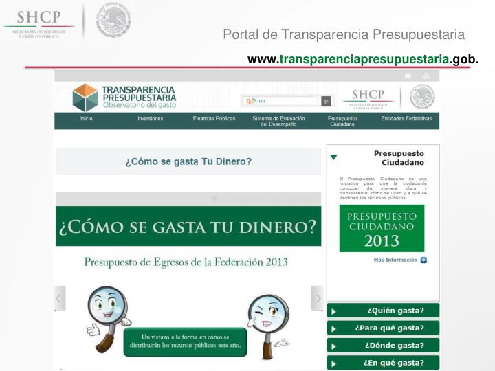 Portal de Transparencia Presupuestaria