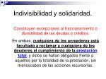indivisibilidad y solidaridad