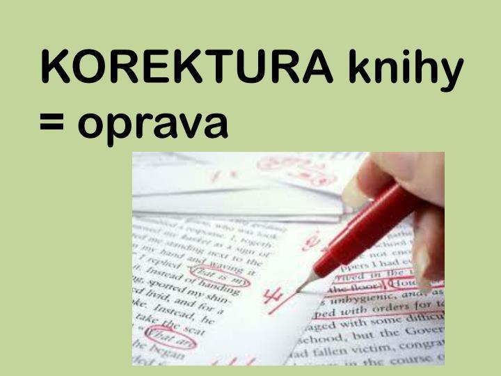 KOREKTURA knihy