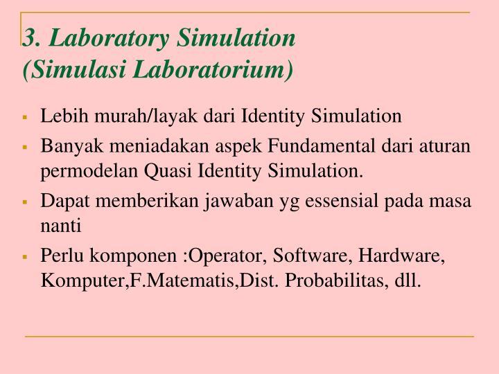 3. Laboratory Simulation
