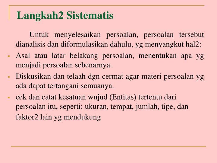 Langkah2 Sistematis