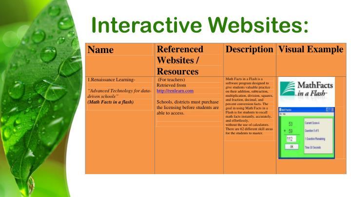 Interactive Websites: