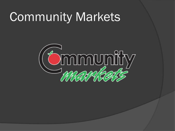 Community Markets