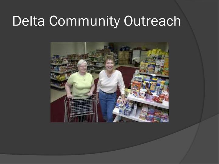 Delta Community Outreach