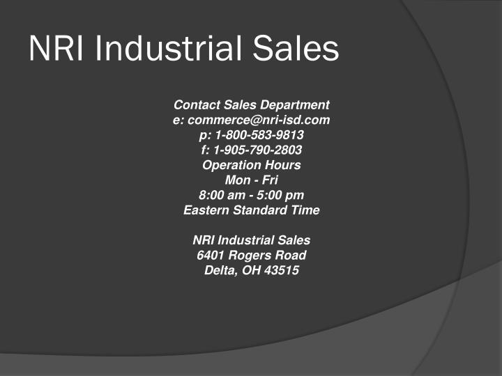 NRI Industrial Sales