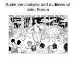 audience analysis and audiovisual aids forum2