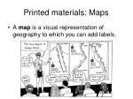 printed materials maps