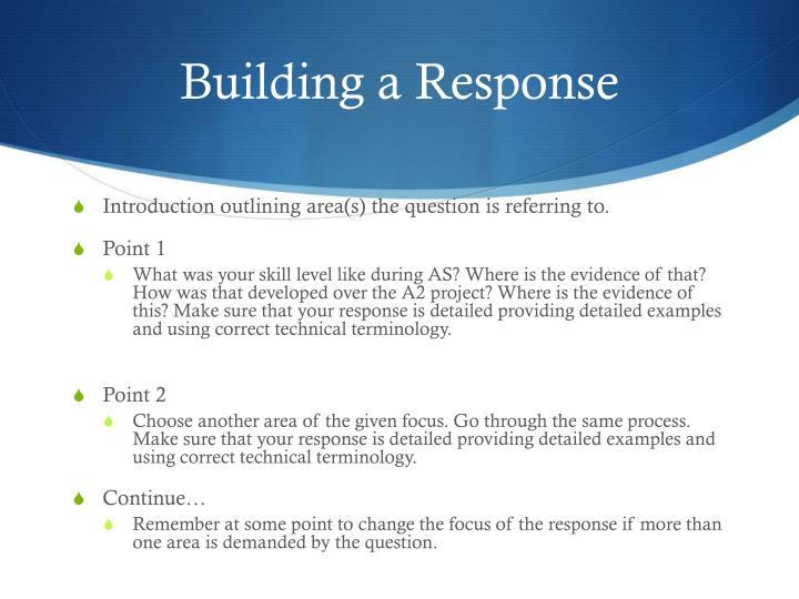 Building a Response