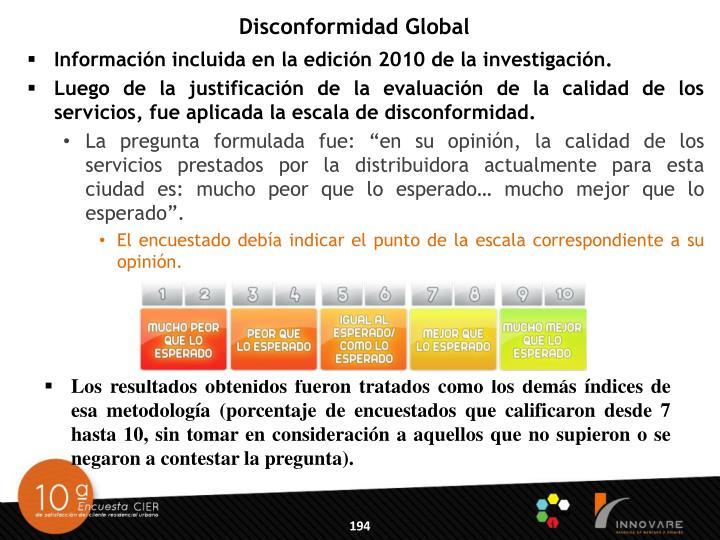 Disconformidad Global