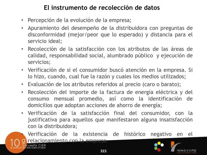 El instrumento de recolección de datos