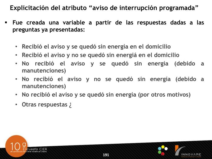 """Explicitación del atributo """"aviso de interrupción programada"""""""