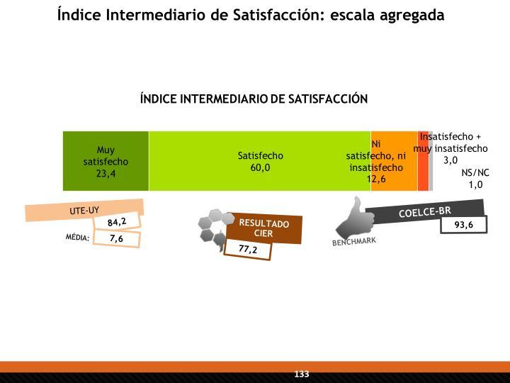 Índice Intermediario de Satisfacción: escala agregada