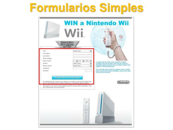 Formularios Simples