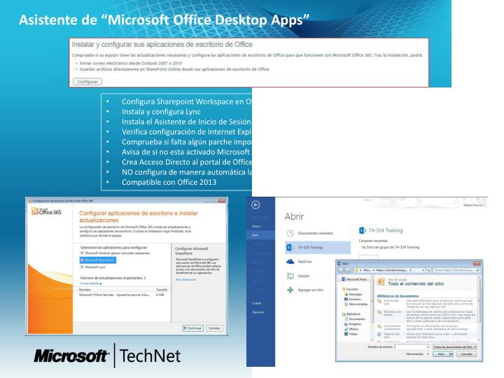 "Asistente de ""Microsoft Office Desktop Apps"