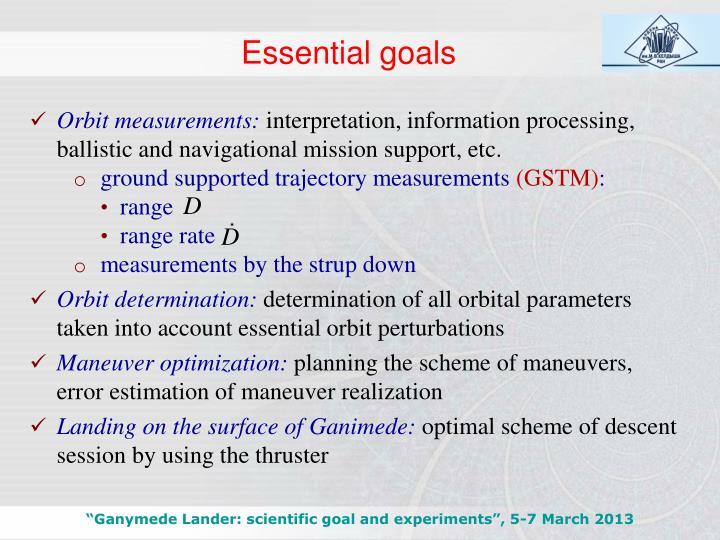 Essential goals