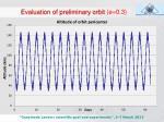 evaluation of preliminary orbit e 0 3