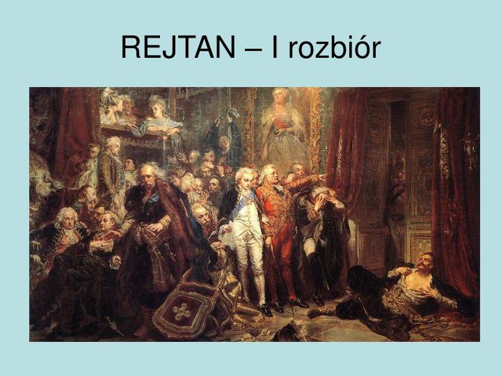 REJTAN – I rozbiór