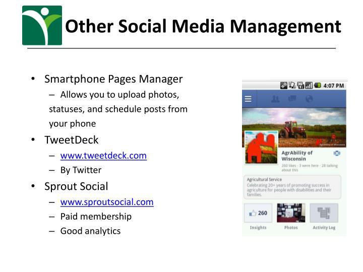 Other Social Media Management