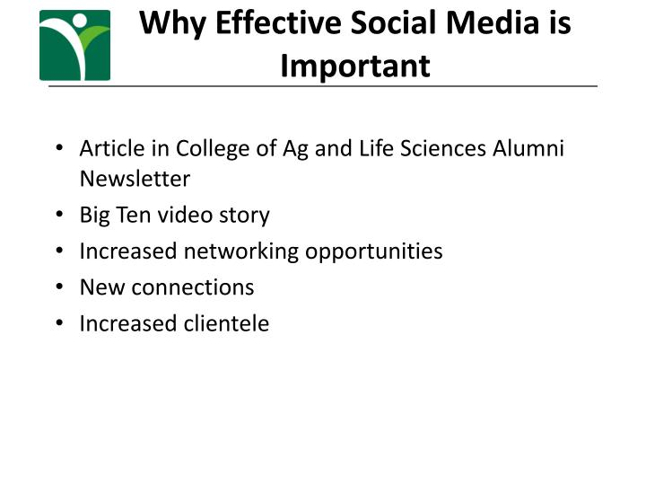 Why Effective Social Media is Important