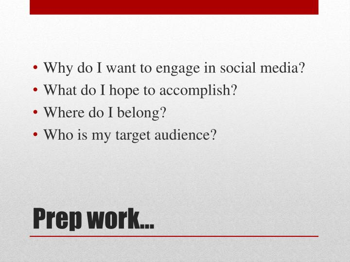 Why do I want to engage in social media?