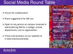 social media round table