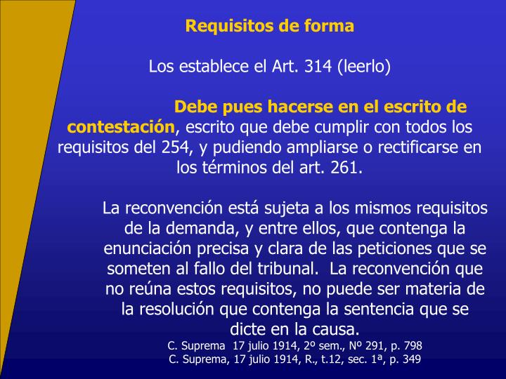 Requisitos de forma