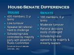 house senate differences