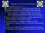 types of committees