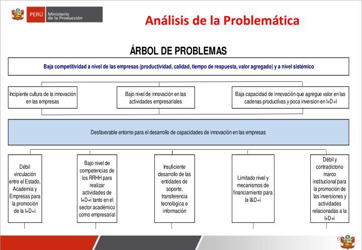 Análisis de la Problemática