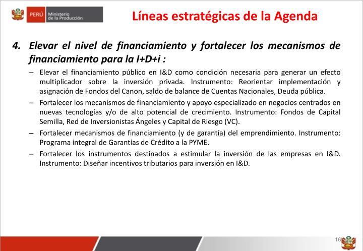 Líneas estratégicas de la Agenda