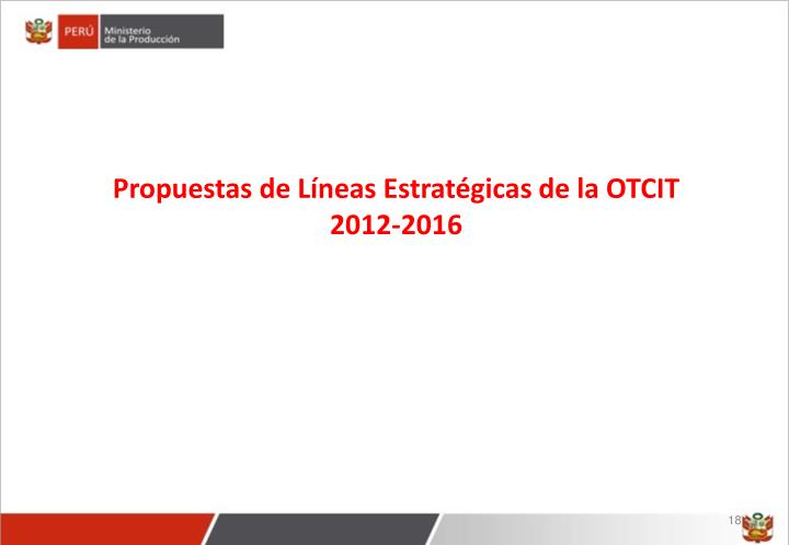 Propuestas de Líneas Estratégicas de la OTCIT