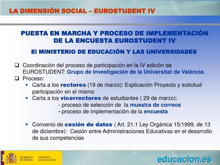 LA DIMENSIÓN SOCIAL – EUROSTUDENT IV
