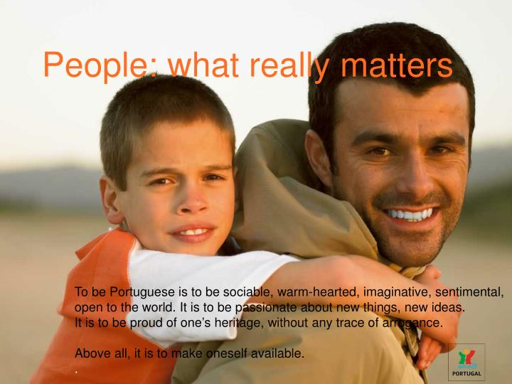 People: what really matters