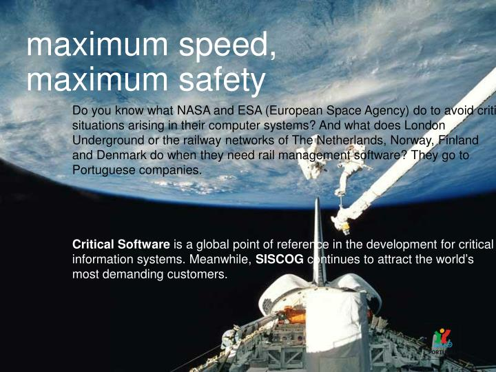 maximum speed,