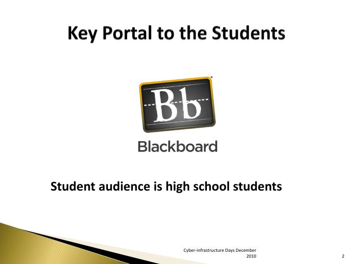 Key Portal to the Students