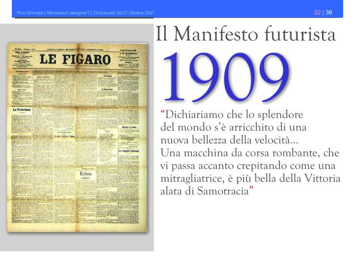 Il Manifesto futurista