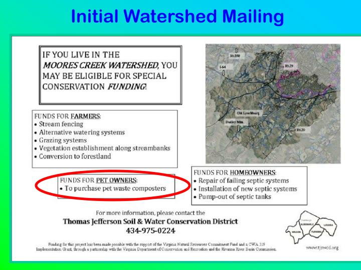 Initial Watershed Mailing