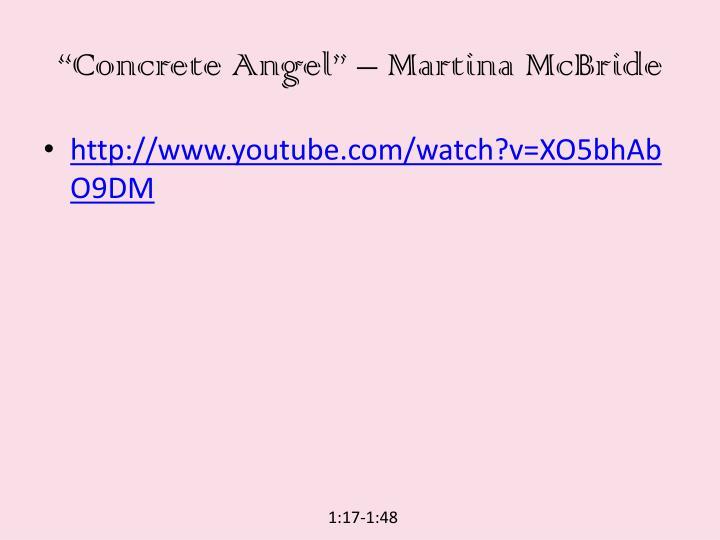 """""""Concrete Angel"""" – Martina McBride"""