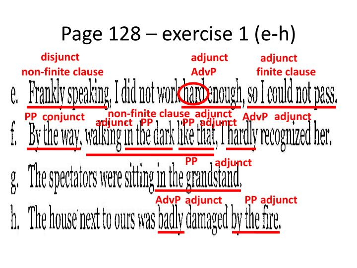 Page 128 – exercise 1 (e-h)