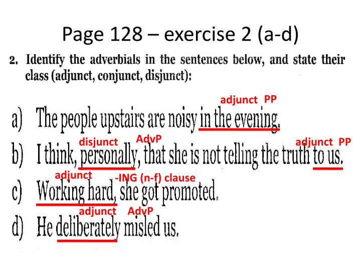 Page 128 – exercise 2 (a-d)