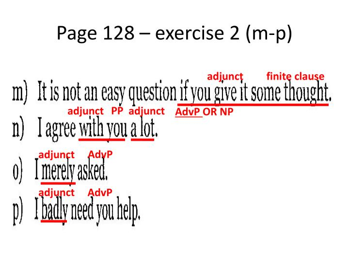 Page 128 – exercise 2 (m-p)