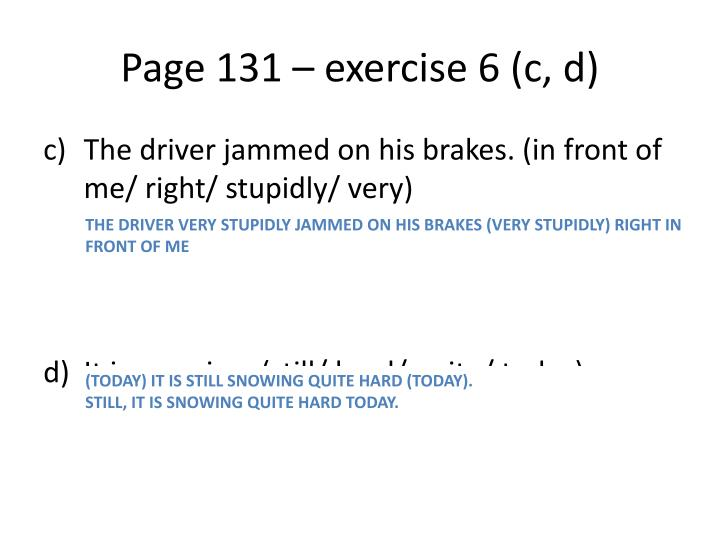 Page 131 – exercise 6 (c, d)