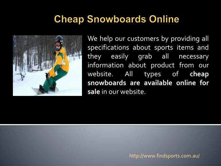 Cheap snowboards online