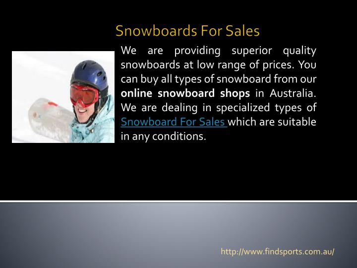 Snowboards for sales