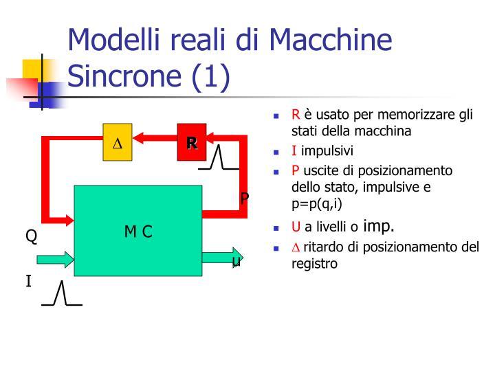 Modelli reali di Macchine Sincrone (1)
