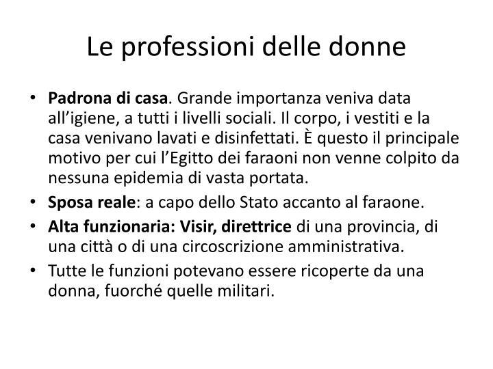 Le professioni delle donne