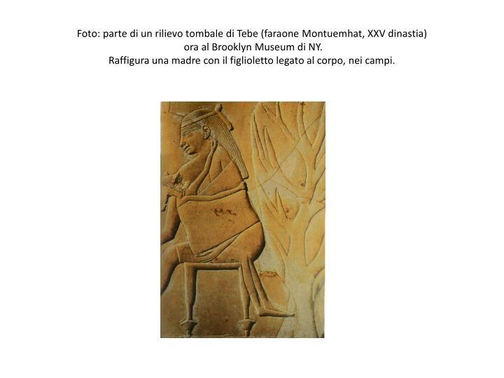 Foto: parte di un rilievo tombale di Tebe (faraone